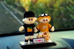 hiasan dashboard boneka couple bagus