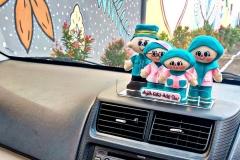 hiasan-dashboard-boneka-keluarga-hijau
