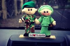 hiasan dashboard mobil boneka TNI Persit Bagus