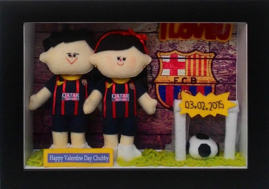 boneka couple jersey barcelona