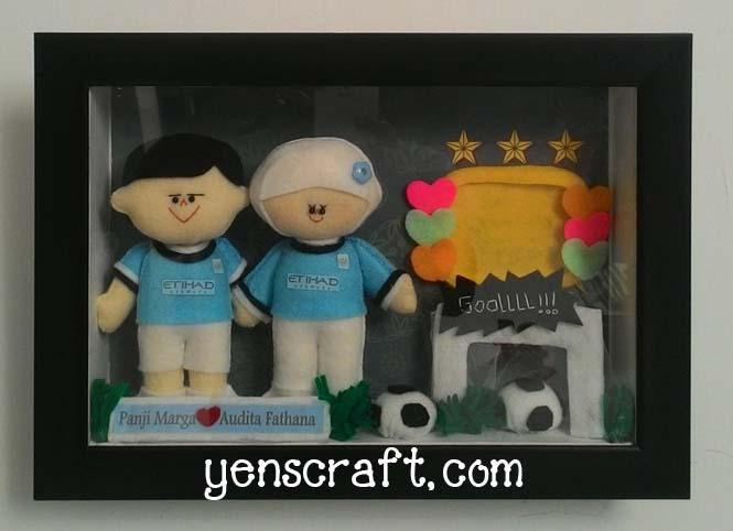 boneka couple jersey manchester city panji