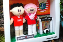 boneka couple jersey persija jakarta