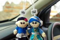 boneka gantung ibu dan anak
